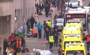 פיצוצים במטרו בבריסל (צילום: חדשות 2)