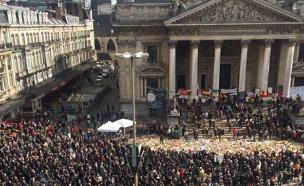 הפגנת ימין בבריסל אחרי מתקפות הטרור (צילום: חדשות 2)