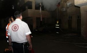 """שריפה בני ברק (צילום: דוברות מד""""א)"""