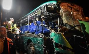 זירת התאונה בחודש פברואר (צילום: פלאש 90)