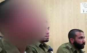 החייל היורה בבית המשפט, היום (צילום: חדשות 2)