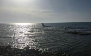 המטוס בתל אביב (צילום: חדשות 2)