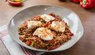דג לוקוס עם סלט אורז חם (צילום: דרור עינב ,אוכל טוב)