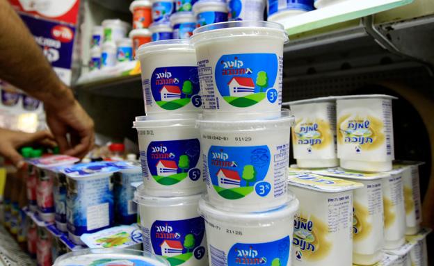 תנובה, מוצרי חלב, קוטג', סופר, מכולת (צילום: חדשות 2)