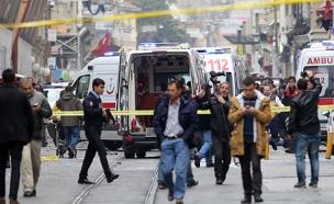 """""""החשודים שוחררו"""", זירת הפיגוע באיסטנבול (צילום: רויטרס)"""