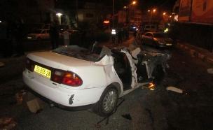 אישה נהרגה בתאונה בכביש חוצה בנימין (צילום: פוראת נאסר)
