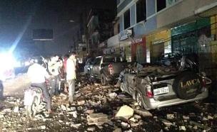רעידת אדמה באקוודור (צילום: חדשות 2)