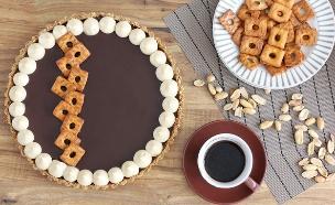 פאי בייגלה, שוקולד וחמאת בוטנים (צילום: ענבל לביא ,אוכל טוב)