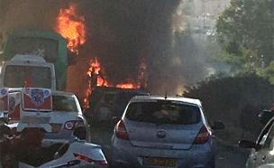 פיצוץ בקו 12 בירושלים (צילום: עד ראיה)