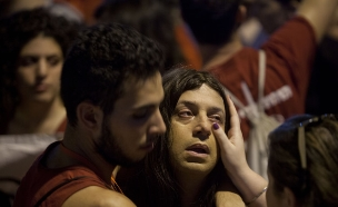הפגנה נגד הומופוביה (צילום: Getty Images)