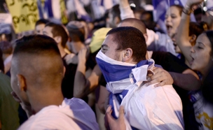 הפגנה למען החייל בכיכר רבין (צילום: חדשות 2)