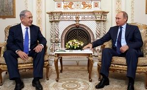 בנימין נתניהו ופוטין (צילום: דוברות שגרירות ישראל ברוסיה)