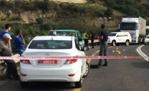 זירת התאונה ליד עילבון