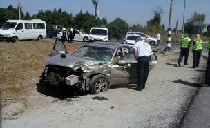 תאונה בעוטף עזה (צילום: חדשות 2)