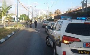 זירת התאונה, אתמול (צילום: דוברות המשטרה)
