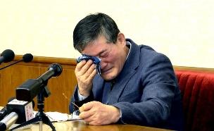 קים ג'ונג צ'ול בעת הודאה באשמה (צילום: רויטרס)