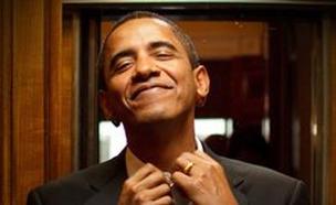 אובמה, אובאמה, עניבה (צילום: חדשות 2)