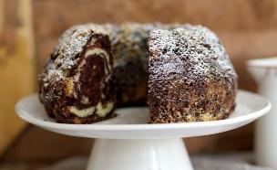 עוגת שיש קפה קקאו (צילום: קרן אגם ,אוכל טוב)
