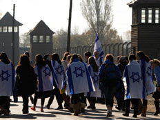 מצעד החיים, אושוויץ (צילום: חדשות 2)
