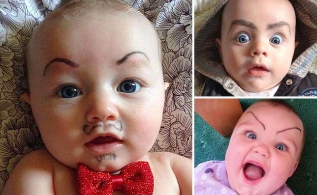 אמהות שמציירות על תינוקות (צילום: instagram ,מעריב לנוער)