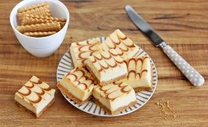 קוביות עוגת גבינה וריבת חלב (צילום: ענבל לביא ,אוכל טוב)