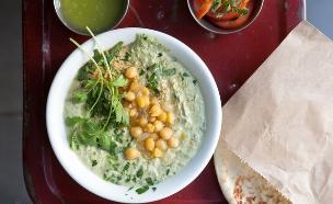 מסבחה ירוקה, קלבוני בשוק (צילום: דרור עינב ,אוכל טוב)