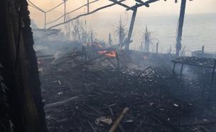 שריפה סמוך לטבריה (צילום: דוברות כבאות והצלה מחוז צפון)