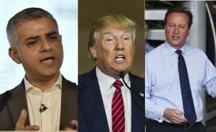 קמרון, טראמפ וקאן (צילום: רויטרס)