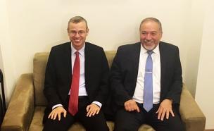 אביגדור ליברמן ויריב לוין (צילום: חדשות 2)