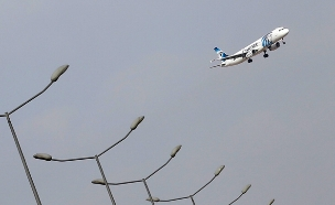 הערכה: המטוס התפוצץ באוויר (צילום: רויטרס)