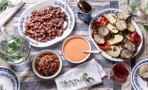 ארוחה ים תיכונית (צילום: אפיק גבאי, סטיילינג: דיאנה לינדר)