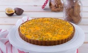 פאי גבינה לוטוס פסיפלורה (צילום: נעמה רן ,אוכל טוב)