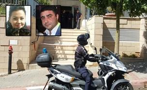 זירת הרצח, אתמול (צילום: אלירן חיאט, חדשות 2)
