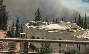 שריפה ברמות (צילום: חדשות 2)