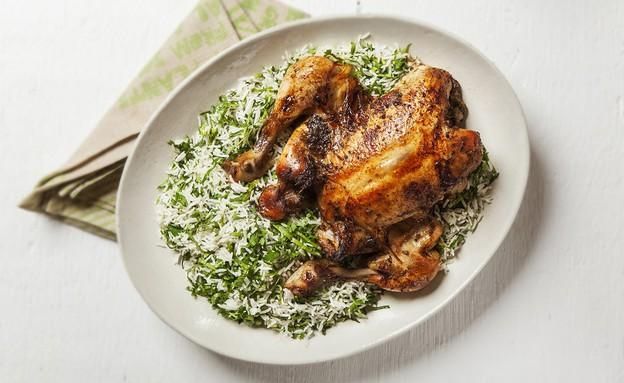 עוף צלוי בתערובת דבש ותבלינים  (צילום: אפיק גבאי ,אוכל טוב)