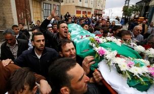הלוויתו של המחבל מחברון (צילום: חדשות 2)