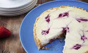 עוגת גבינה וקונפיטורת תות שדה (צילום: בן יוסטר ,מחלבות גד)