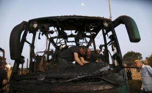 הפיגוע באוטובוס, בחודש שעבר (צילום: רויטרס)