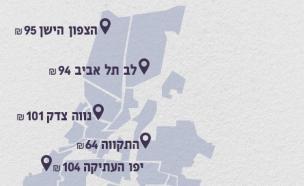 מפת השכירות של תל אביב (עיצוב: סטודיו mako ,mako)