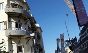 פינוי בניין ביהודה הלוי 55 עקב עבודות הרכבת (צילום: חדשות 2)