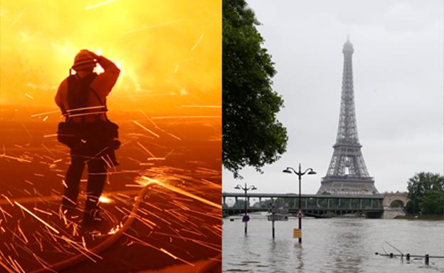 מזג אוויר קיצוני משתק מקומות רבים בעולם (צילום: רויטרס)