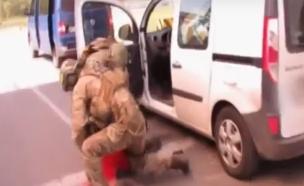 מעצר חשוד בפעילות טרור באוקרינה (צילום: חדשות 2)
