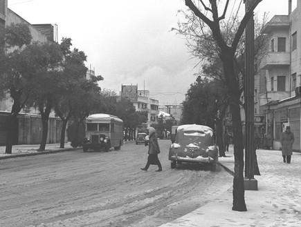 שלג בתל אביב, בחורף 1950