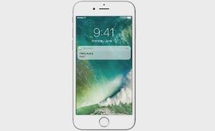 התראה על מסך הנעילה ב-iOS 10