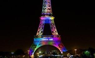 האייפל בצבעי הגאווה (צילום: טוויטר)