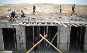 בנייה בהתנחלות סוסיה, יהודה ושומרון (צילום: חדשות 2)