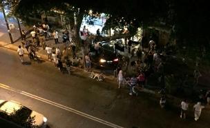 רכב התנגש במסעדה בתל אביב (צילום: דיווחי הרגע)