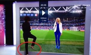 כך בוצע הטריק המדהים של ערוץ הטלוויזיה הצרפתי (צילום: twitter ,מעריב לנוער)