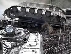 מה קרה לטנק האוקראיני (צילום: צילום מסך מתוך הסרטון)
