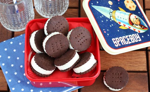 עוגיות סנדוויץ' גלידה (צילום: ענבל לביא ,אוכל טוב)